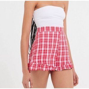 Urban Outfitters Red Gingham Shorts Size Medium Hi